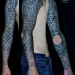 Not Inked Elbow Dotwork tattoo sleeve by Andy Cryztalz