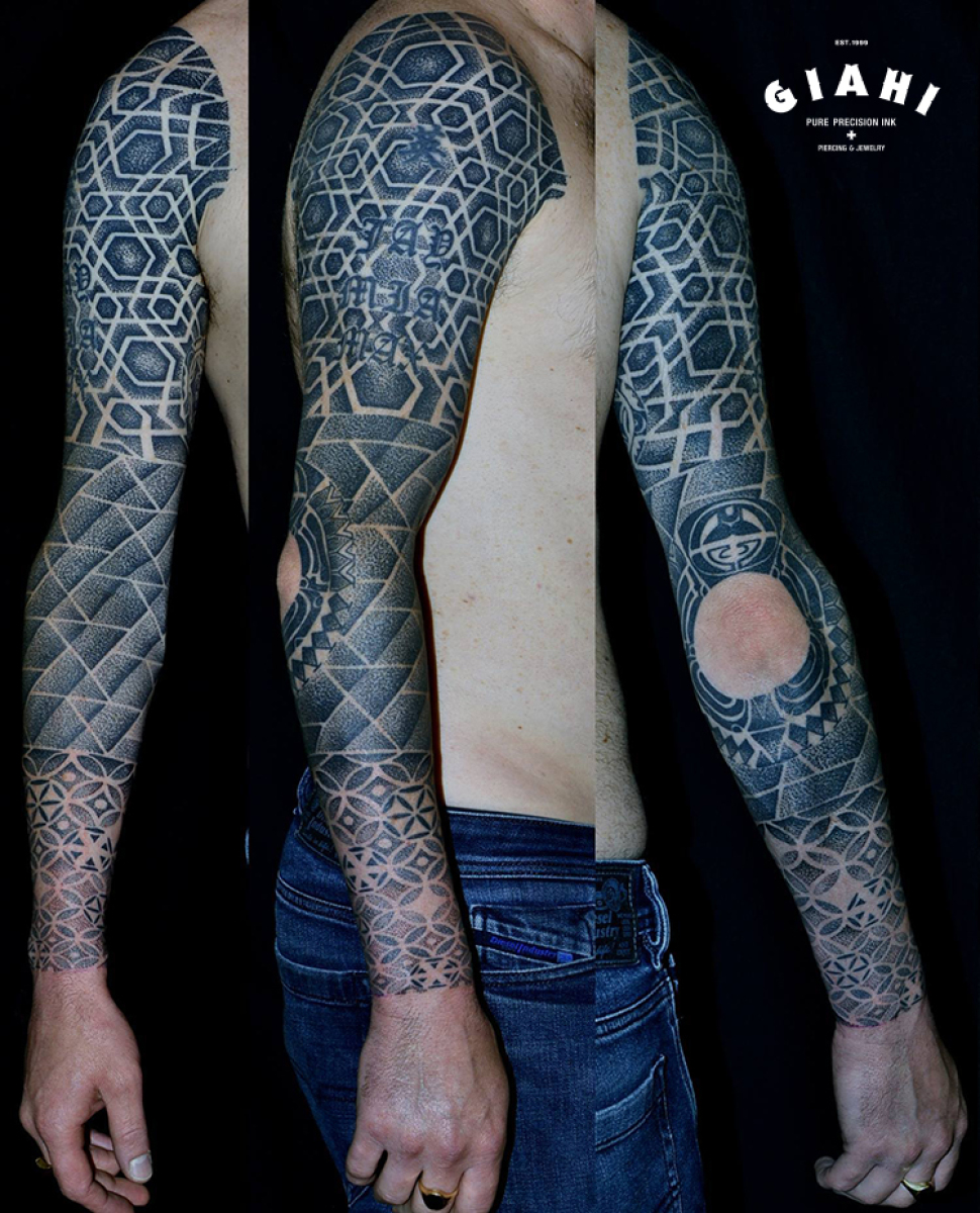 not inked elbow dotwork tattoo sleeve by andy cryztalz best tattoo ideas gallery. Black Bedroom Furniture Sets. Home Design Ideas