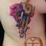 Octopus Elephant Aqurelle tattoo by Galata Tattoo