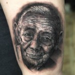 Old Man Realistic tattoo by Georgi Kodzhabashev