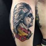 Old School Indian tattoo by Matt Cooley