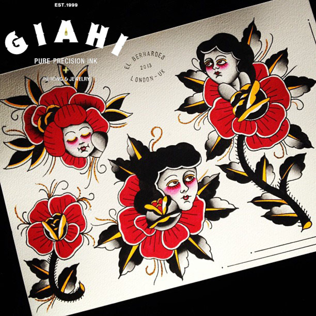 Old School Rose Ladies tattoo ideas by Elda Bernardes