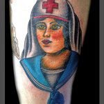 Old School Sailor Girl tattoo by Jack Gallowtree