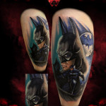Old Type Batman tattoo by Hellyeah Tattoos