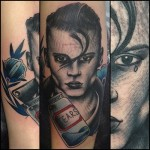 One Tear Movie tattoo by Nick Baldwin