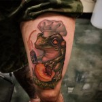 Peach Cooking Toad tattoo Timmy B NiteOwl Tattoo