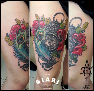 New school tattoos best tattoo ideas gallery part 23 for Traditional peacock tattoo