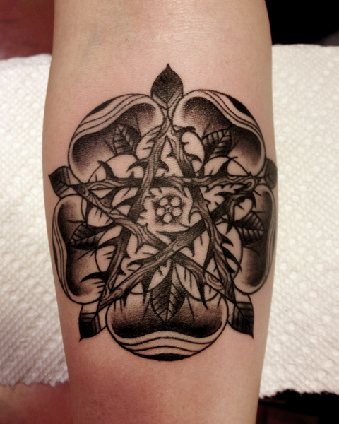 Pentagram Dotwork Tattoo By Three Kings Tattoo Best Tattoo Ideas