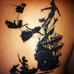 Peter Pan Blackwork Nautical tattoo