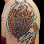 Pretty Hear Locket tattoo by Jack Gallowtree