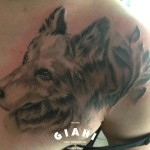 Realistic Fur Dog tattoo by Goran Petrovic