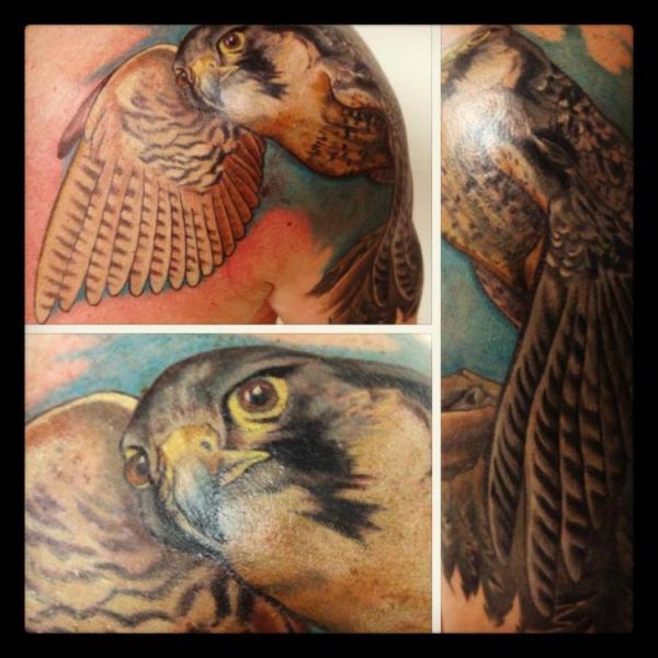 Realistic Hawk tattoo by Tantrix Body Art