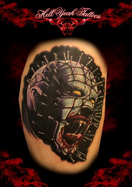 Realistic Screaming Hellraiser tattoo by Hellyeah Tattoos