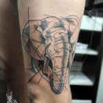 Realistic Sketchy Elephant tattoo by Nazo