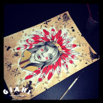 Red Feather Indian tattoo idea by Elda Bernardes