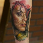 Red Haired Chicano Girl tattoo by Bloodlines Gallery