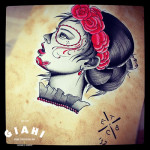 Red Roses Woman Chicano tattoo idea by Elda Bernardes