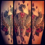Rhombus Elephant tattoo by Sarah B Bolen