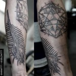 Ribbed Shell Dotwork tattoo by MXM