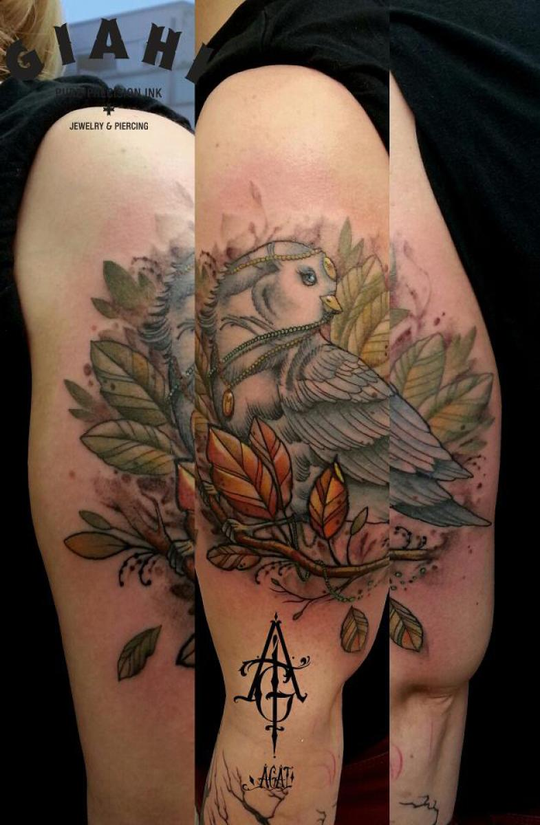Rich Dove tattoo by Agat Artemji
