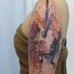 Roses Palette Trash Polka tattoo by Carola  Deutsch