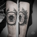 Rotating Wheel Diadem Dotwork tattoo by Ien Levin