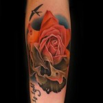 Rotten Rose Death tattoo by Andres Acosta