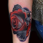 Sad Fishy Rose tattoo by Andres Acosta