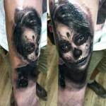 Santa Muerte Girl Realistic tattoo by Georgi Kodzhabashev