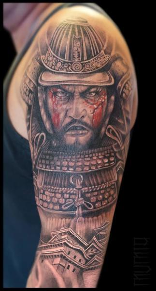 9343d7905419b Scar Face Samurai Realistic tattoo by Mumia Tattoo | Best Tattoo ...