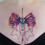 Schematic Bow Tie tattoo by Carola  Deutsch