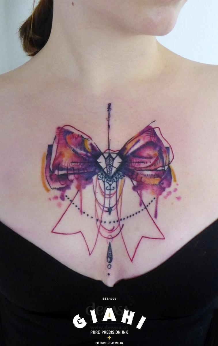 schematic bow tie tattoo by carola deutsch best tattoo ideas gallery. Black Bedroom Furniture Sets. Home Design Ideas