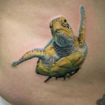 Sea Turtle realistic tattoo by Skin Deep Art