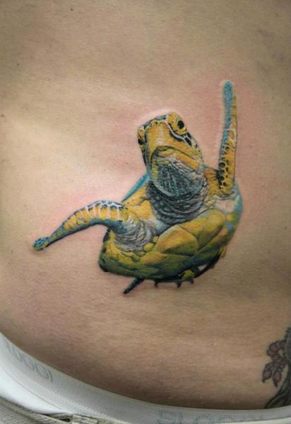 Sea Turtle realistic tattoo by Skin Deep Art | Best Tattoo Ideas Gallery