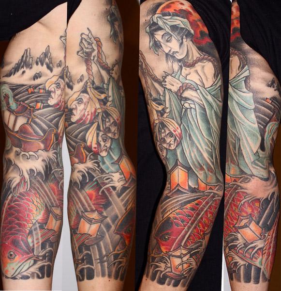 Sea Whitch Japanese tattoo sleeve by Three Kings Tattoo