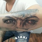 Serious Look Graphic tattoo by Goran Petrovic