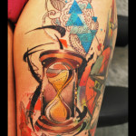 Shaking Hourglass tattoo by Live Two