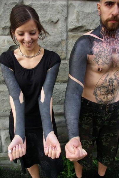 Couple Blackwork Full Sleeves Best Tattoo Ideas Gallery