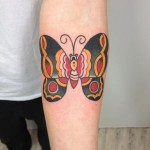 Simple Hand Old School Butterfly tattoo by Three Kings Tattoo