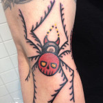 Simple Spider tattoo by Elda Bernardes