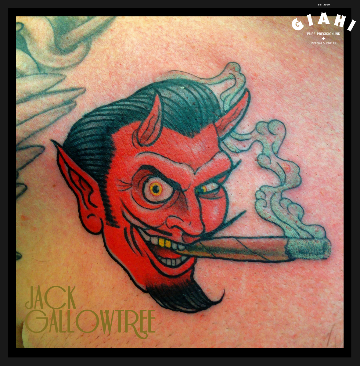 smoking devil tattoo by jack gallowtree best tattoo ideas gallery. Black Bedroom Furniture Sets. Home Design Ideas