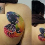 Space Shell tattoo by Sasha Unisex