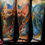 Sphynx Cat Realistic tattoo by Piranha Tattoo Supplies