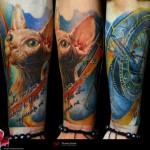 Sphynx Cat Realistic tattoo by Piranha Tattoo Supplies