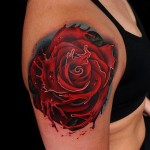Splash Liquid Rose tattoo by Andres Acosta
