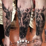 Stone Angel tattoo by George Drone