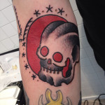 Sun Set Skull tattoo by Elda Bernardes