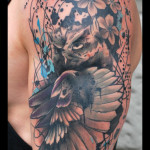 Suspicious Owl tattoo by Live Two