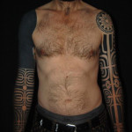 Symmetric Circles Signs Blackwork tattoo sleeves