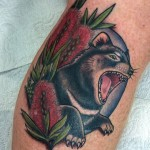 Tassie Devil tattoo by Drea Darling